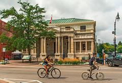 Federal Building (fotofrysk) Tags: tourists cyclists bikes centurybuilding heritagebuilding hurontariostreet canada ontario collingwood nikon d7100 1608287299