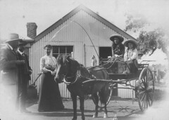 Phyllis and Kitty Shaw leaving for Kilnoorat School - Terang, VIC (State Library of New South Wales collection) Tags: statelibraryofnewsouthwales