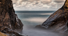 Ocean view (Olof Virdhall) Tags: ocean view longexposure rock clouds outdoor canon eos5 mkiii olofvirdhall kullaberg