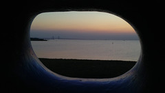 Sunset from Malm and the Oresund Bridge 2 (Andrea Lugli) Tags: malm sweden sverige europe oresund bridge