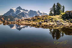 Mt Shuksan from Artist Point.jpg (Eye of G Photography) Tags: rockformations trees usa landscape reflectionlake reflections mtbaker f28club mtschukan washingtonstate mountains