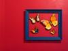 On the Wall (LeftCoastKenny) Tags: utata weekendproject utata:project=seeingred utata:description=hide red wall blue frame butterflies estrellita mexican restaurant losaltos