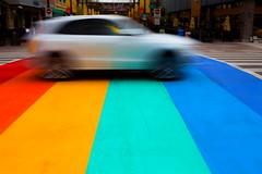 Rainbow Speeder (stevenbulman44) Tags: color shutter car vehicle canon summer 2470f28l filter polarizer
