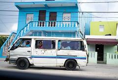 DR Shooter (Rebecca Regueira) Tags: dominicanrepublic dr dominican republic blue green van white caribbean island color colorful shooter wave gun passingby