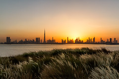 The Terrace, Dubai Creek Harbour - United Arab Emirates (Dutchflavour) Tags: theterrace dubai dubaicreekharbour skyline unitedarabemirates uae landscape cityscape citylandscape city outdoor sunset sky sun