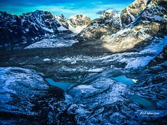 Lakes seen from the summit of kalapathar - 5635 metres asl. #basecamp #everest #glacier #hiking #himalaya #iPhone #kalapathar #khumbu #lakes #nepal #snow #summit #trekking (rammahajan7) Tags: lakes seen from summit kalapathar 5635 metres asl basecamp everest glacier hiking himalaya iphone khumbu nepal snow trekking