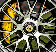 Stopping power (Chris O'Brien Photography) Tags: turbos 911 crossdrilled brake pccb caliper wheel disc composite ceramic porsche cars spaf70300f456divcusd canon uk eos5dmarkiii tamron 5dmk3 5d3 colour