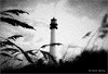 Cape Florida Lighthouse (Kevin B Photo) Tags: park old light sky blackandwhite bw plants usa sunlight lighthouse hot beach beautiful beauty horizontal clouds outside outdoors one coast big sand day afternoon exterior unitedstates graphic artistic cloudy south sandy scenic large historic created southern coastal vegetation infrared manmade daytime fl tall southeast attraction saltwater keybiscayne refuge serenitynow kevinbarry capefloridalighthouse iphone4 wowiekazowie 100ypl