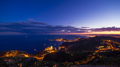 Eze / St Jean / Nice (Malaussena benoit) Tags: sunset sea night alpes canon nice paca maritimes stjeancapferrat sigma1020mm poselongue ze zevilage