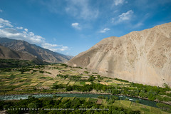 The Panjshir valley (Alex Treadway) Tags: life travel sky people mountain afghanistan mountains colour travelling nature water rural river landscape outside flow outdoors photography potatoes asia stream day natural image bend earth vibrant wheat farming dramatic fast dry nobody nopeople villages hills valley fields environment meander flowing copyspace agriculture himalaya patchwork population naturalbeauty distance eastern range arid naturalworld himalayas scenics harsh himalayan paddies mountainrange highperspective traveldestinations glacierwater ruralscene bodyofwater hindukush placeofinterest colourimage panjshir physicalgeography elevatedview panjshirvalley panjsheer