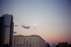 Film | Kodak Gold 200 (heyjennaj) Tags: sunset brooklyn fullmoon