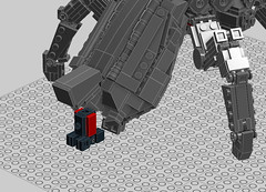 Megalith WIP03 B (OrangeKNight) Tags: brick scale experimental lego crab micro forged mecha commander fa bot supreme mech alliance t4 megalith