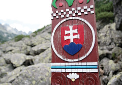 The symbol of Slovakia (roomman) Tags: park wood trip sea sky mountain lake mountains nature water beautiful walking landscape wooden nationalpark high nice blood pin ship tour place cross post symbol hiking walk flag cemetary hill flags hike hills holy national valley hora slovakia tatry symbolic pri 2012 tatra protected vysoketatry vysoke pleso vysoktatry strbske strbskepleso vysok velke plese popradske popradskepleso cintorn horsk mengusovsky popradskom velkepleso hornat symbolick symboliccemetary