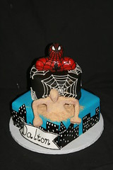 "Spidy Vs Sandman birthday cake • <a style=""font-size:0.8em;"" href=""http://www.flickr.com/photos/60584691@N02/7977106965/"" target=""_blank"">View on Flickr</a>"