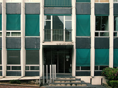 - (olive brown) Tags: windows building typography apartments steps type immeuble poitiers