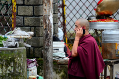 Monk On The Phone (Sidhu Photography) Tags: monk lama tibetan bodhi mcleodganj budhhist littlelhasa tsuglagkhangtemple monkcellphone