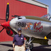 P-38 lightning with WWII P-38 Pilot Joe Honesty
