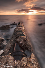 Exposed (Dave Brightwell) Tags: beach sunrise canon coast rocks pipe coastal hitech redsnapper countydurham easington bwnd davebrightwell