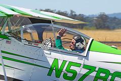 "Bill Cornic - ""Big Bad Green"" (cclark395) Tags: california usa airplane airport pentax aircraft airshow santarosa biplane k5 aerobatics sts pitts pittsspecial charlesmschulz s2c ksts sonomacountyairport billcornick 60250mm n57bc smcpentaxda60250mmf4ifsdm charlesmschulzsonomacountyairportsts wingsoverwinecountryairshow2012"