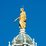 Golden Lady atop Bank of Scotland Head Office
