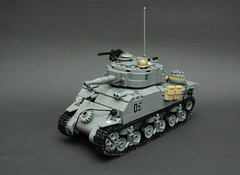 M4A3 Sherman 'D-Day' ([Stijn Oom]) Tags: lego m1 cut wheels tracks spare sherman detailed steelpot brickarms m4a3