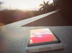 Nokia N9 and sunset