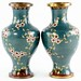 128. Fine Pair of Cloisonne Vases