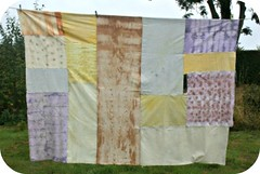 Hand Dyed Cloth - Trance (Hoola Tallulah) Tags: slow quilt natural printing cloth patchwork bundle dying eco handstitched dyed dyes handdyed