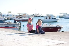 C&A (flo.tography) Tags: girls water kids canon boat harbour croatia 85mmf18 fazana 40d