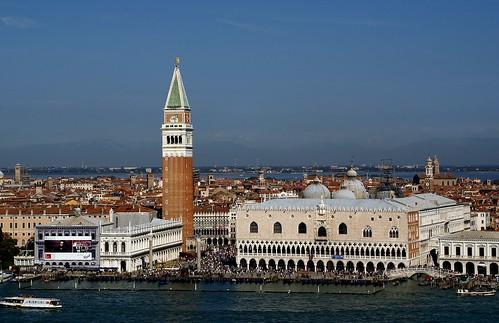 Venedig Aussicht Vom Campanile Der Chiesa Di San Giorgio Maggiore