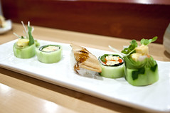 Sushi Yasu - Omakase: Tamago Roll and Anago (nicknamemiket) Tags: sushiroll roll food foodporn foodphotography restaurants restaurantphotography sushi sushibar sushiyasu ny nyc queens forresthills omakase omakasesushi sushirolls