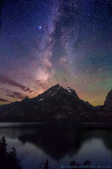 "Milky Way Dawn over Jenny Lake (IronRodArt - Royce Bair (""Star Shooter"")) Tags: sky night stars evening nightscape grand grandtetons teton heavens universe nightscapes starrynight milkyway grandtetonnationalpark jennylake starrysky starrynightsky astrolandscape"