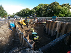 Bray flood defence scheme 28th-September-2012 #2 (turgidson) Tags: ireland digital river ed four lumix construction angle mechanical flood zoom g wide wideangle olympus m panasonic relief machinery micro works mm scheme wicklow protection zuiko defence bray digger dmc thirds excavator hydraulic m43 dargle gh2 f4056 siac hydraulicexcavator 50club mirrorless lumixg microfourthirds 918mm olympusmzuikodigitaled918mmf4056 panasonicgh2 olympusmzuikodigitaled918mmf4056mm panasoniclumixdmcgh2 p1090466
