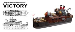 Her Majesty's Dreadnought VICTORY (2 Much Caffeine) Tags: ship lego navy steampunk moc dreadnought