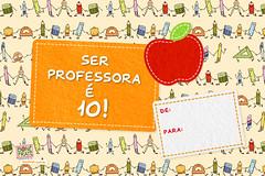 Cartão - Dia da Professora (para imprimir) (BoniFrati) Tags: cute paper diy craft teacher card professor tutorial pap cartão professores professora bonifrati diadosprofessores