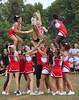 (jasieggs) Tags: smile outdoors jump cheerleaders outdoor air cheer cheerleader squad