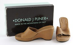 1048. Pair of Wedge Mule Heels, Donald J. Pliner