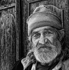 TurkishmanBW31050 (GaryHowells) Tags: portrait turkey age backstreets monoportrait