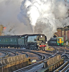 'Age Before Beauty!' (Deepgreen2009) Tags: london beauty station train waiting south first railway tunnel blow junction steam southern age queue tulsehill uksteam