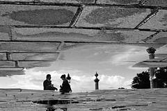 Paris (flallier) Tags: paris reflet nikonfm trix film argentique nikkor50mmf18ais reflection reflect water flaquedeau flaque filmgrain grain placedelaconcorde concorde 75008 8e viiie puddle