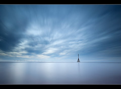 Time To Reflect (A-D-Jones) Tags: ocean blue sea seascape beach clouds landscape sand long exposure crosby blundellsands 10stop bigstopper prostopper