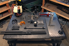 Tools around the shop! (Dancing Weapon of Mass Destruction) Tags: building tools gas frame anvil alignment fluxer bringheli