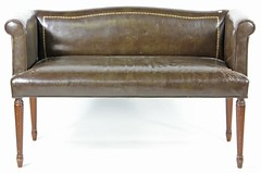 22. Leather Diminutive Sofa