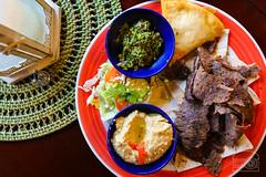 Gyro Platter w/ Hummus, and Tabbouleh - Salam and Samosa (sheryip) Tags: food wv foodporn platter morgantown hummus salam gyro tabbouleh