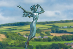 Remembering Ekaterine (Kate) Frolov (DobingDesign) Tags: ilfracombe northdevon devon sculpture rip countryside scultpure girl beauty memorial clifftop hillsborough fields trees greens rollinghills valley depthoffield outdoor englishgreens poignant memory inmemoriam remembering capstonehill