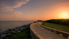 Boardwalk at WhaleHead (gaprunella) Tags: sunset water nikon northcarolina boardwalk outerbanks d800 m2c carrituck 1424mm alittlephotography whaleheadpark