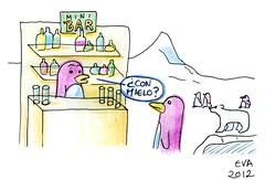 Pingüinos (elbuzonamarillo) Tags: mini bar pingüino oso polar hielo polo norte sur ártico antártida vaso botella