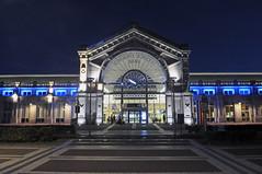 gare Charleroi Sud (peter.velthoen) Tags: gare nmbs building architecture outdoor avond trefpunt station sncb charleroi garecharleroisud gevel ontvangst rception soire