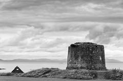 Martello-Tower-LAN_3906-copy (Michael.Stanley) Tags: martellotower balbriggan mournes dublin ireland niksilvereffects nikon d300 nikond300 beach tower bw