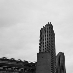 Barbican (Jim Davies) Tags: olympusmjuii olympusstylusepic monochrome mjuii stylusepic ilford xp2 c41 chromogenic 35mm analogue veebotique olympus london barbican architecture modernism brutalism concrete buildings blackwhite bw filmfilmforever ishootfilm film